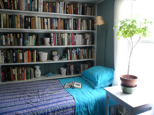Maine room with books
